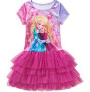 Disney Frozen Girls Velour Tiered Tutu Dress 7/8 và 10/12 hồng