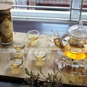 Bộ ấm chén trà thủy tinh số 64 Bạch Hạc Trà