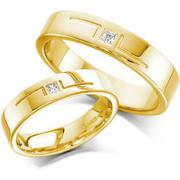 Nhẫn cưới vàng tây NCT002