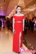Chân váy dài xẻ đùi gợi cảm màu đỏ, trắng, đen , xanh CV73