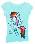 Freeze Girls My Little Glitter on Mane Rainbow Dash T-Shirt size L bé 8-10t