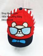 Mũ lưỡi trai mềm hình mèo đeo kính