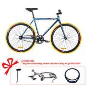 Xe đạp Topbike Fix khung màu đen ánh xanh