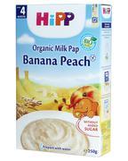 Bột ăn dặm dinh dưỡng sữa, chuối, đào HIPP - 4m