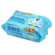 Giấy Ướt LEC Nước Tinh Khiết 99,9% Doraemon  SS277 (80 Tờ x 3 Gói )