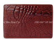 Bóp da cá sấu Hoa Cà vảy chân - A1524