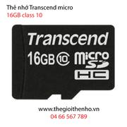 Thẻ nhớ Transcend  Micro SDHC 16GB (Class 10)