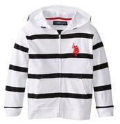 U.S. Polo Assn. Big Boys´ Zip-Up Striped Jersey Hoodie