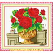 Bình hoa hồng (đỏ)