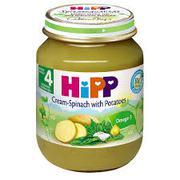 Dinh dưỡng đóng lọ rau chân vịt khoai tây sữa Hipp 4+