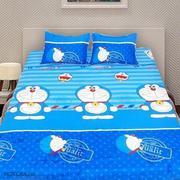 Bộ ga giường cotton Doremon