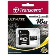 Thẻ nhớ MicroSDHC Transcend Class 10 16GB (Đen)