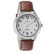 Đồng hồ nam dây da Titan 1585SL07 (Nâu)