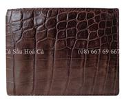 Bóp da cá sấu hoa cà da bụng - 1170
