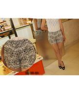 quần short nữ lưng cao hoa văn