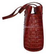 Túi xách da cá sấu Hoa Cà dạng nguyên con -A0114