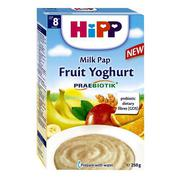 Bột ăn dặm dinh dưỡng  hoa quả nhiêt đới, sữa chua Hipp 8m - 250g