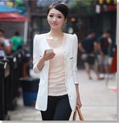 Áo khoác form dài màu trắng