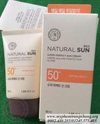 KEM CHỐNG NẮNG NATURAL SUN SUPER PERFECT SUN CREAM THEFACESHOP SPF 50+ PA+++