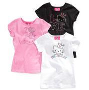 Hello Kitty Kids Shirt, Little Girls Rhinestud Teenm usa