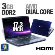 Acer Aspire AS7540-1408 LX.PJD02.019 Notebook PC - AMD Athlon II Dual-Core M300 2.0GHz, 3GB DDR2, 32...