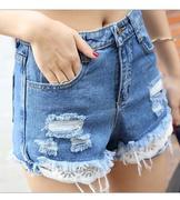 quần short jeans tua rách
