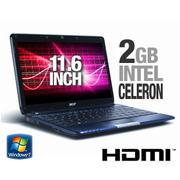 Acer Aspire AS1410-2497 LX.SA902.006 Notebook PC - Intel Celeron ULV 743 1.3GHz, 2GB DDR2, 250GB HDD...