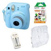 Bộ máy chụp ảnh lấy ngay Fujifilm Instax Mini 8 (Xanh dương) + Hộp phim Fujifilm Instax Mini Mickey ...