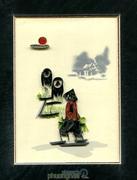 Thiệp Tranh Xoắn - Nông Dân Trồng Lúa