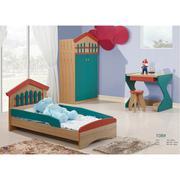 Bộ giường ngủ, tủ quần áo, bàn học kèm ghế ngồi 108#
