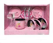 Bộ 11 dụng cụ nấu ăn Barbie hồng xinh