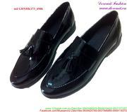 Giày da nam công sở da bóng thắt nơ sang trọng GDNHK173