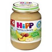 Dinh dưỡng đóng lọ chuối đào Hipp 4+