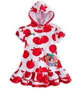 Áo khoác Tắm biển Bé Gái Snow White đỏ
