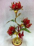 đèn thờ 3 bông hoa