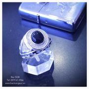 Nhẫn bạc nam đá đen Onyx