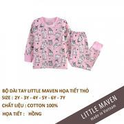 Bộ cotton thu đông Little Maven made in vietnam chất lượng cao