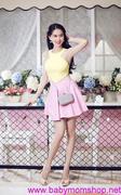 Chân váy xòe xếp ly trẻ trung xinh xắn giống Ngọc Trinh CV45