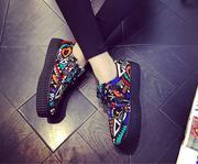 Giày vải cột dây graffiti 7166