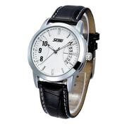 Đồng hồ nam dây da Skmei 9055 (Đen)