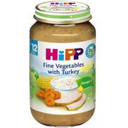 Dinh dưỡng đóng lọ Hipp Cơm nhuyễn, gà tây, rau tổng hợp (6813) (220g)