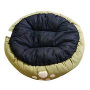 Giường bông hình tròn cho thú cưng 55x15cm Uncle Bills - PH1322(xanh la)