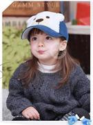 Mũ lưỡi trai nhung hình gấu có mầu xanh đỏ vàng