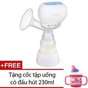 Máy hút sữa mẹ điện tử không có BPA Unimom K-POP ECO 871104 (Trắng) + Tặng 1 cốc tập uống có đầu hút...