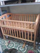 cũi trẻ em bằng gỗ thông 110x70cm