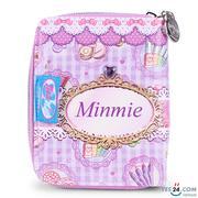 Bóp ngắn Minmie màu tím cho bé gái - MM-007-8BM-02