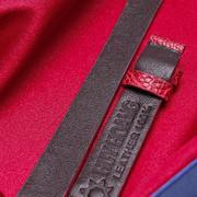 Dây đồng hồ da đà điểu Huy Hoàng màu đỏ HH8404