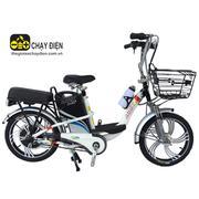 Xe đạp điện Bmx khung sơn vành 18 (Trắng)
