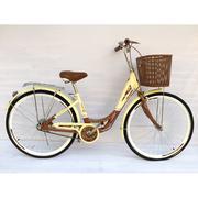 Xe đạp ngỗng nhập 24 inch - TT313 (Vàng nâu)