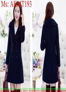 Áo khoác dạ thu đông kiểu cổ bẻ 6 nút thời trang AKMT193